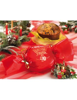 Panetonne paquet bonbon rouge